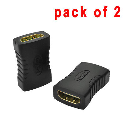 2 x HDMI Extender Female to Female F-F Coupler Adapter Connector 1080P HDTV