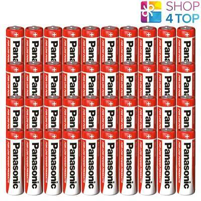 40 Panasonic Zinc Carbon Aa Lr6 Batteries 1.5V Mignon Mn1500 New