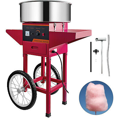 VEVOR Commercial Cotton Candy Machine Floss Maker With Cart