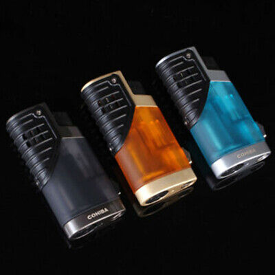 COHIBA windproof Triple Jet Torch Flame Delicate Cigar Lighters With Punch