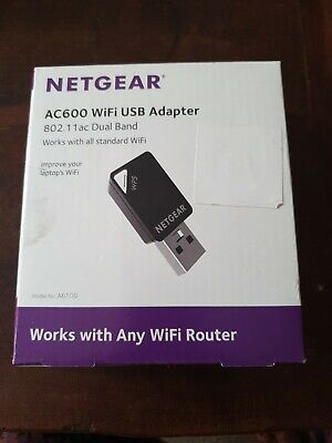 NETGEAR A6100 USB Wireless Adapter - AC 600, Dual-band