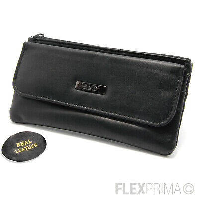 Womens Ladies Leather Purse Wallet Black NEW WITH TAGS TOP QUALITY RFID 21