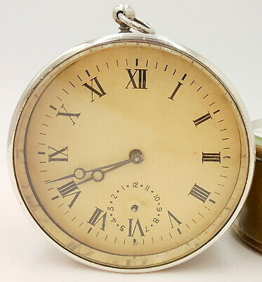Antique Sterling Silver French Depose Alarm Clock movement