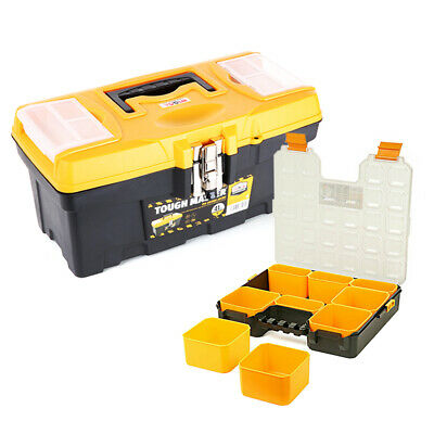 Tool Box Tough Master 16 inch / 41cm With 9 Storage Compartment Tool Organiser