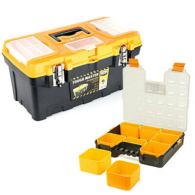 Tool Box Tough Master 19 inch / 49cm With 9 Storage Compartment Tool Organiser