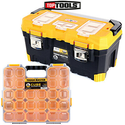 Tool Box Tough Master 22 inch / 56cm With 9 Storage Compartment Tool Organiser