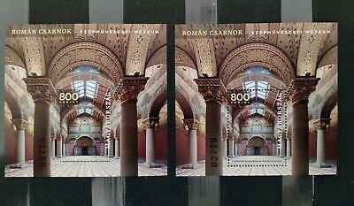 HUNGARY 2019 - Romanesque Hall of the Museum Of Fine Arts perf. and imperf. MNH