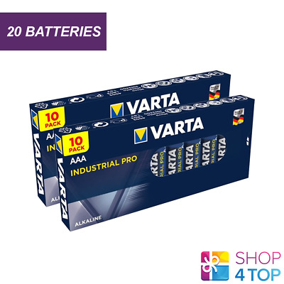 20 Varta Industrial Alkaline Aaa Lr03 Batteries 1.5V Micro Am4 E92 Mn2400 New