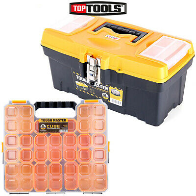 Tool Box Tough Master 16 inch / 41cm With 15 Storage Compartment Tool Organiser