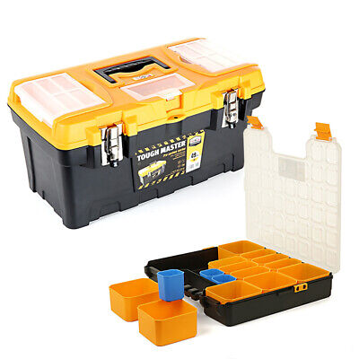 Tool Box Tough Master 19 inch / 49cm With 15 Storage Compartment Tool Organiser