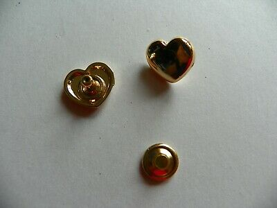 20 x HEART SHAPED CONCHOS 10x3mm GOLD COLOURED