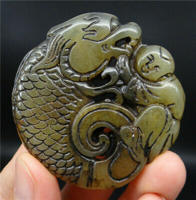 Chinese HongShan Culture Jade Statue Hand Carved Natural Old Jade DSC04871