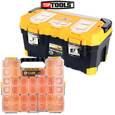 Tool Box Tough Master 22 inch / 56cm With 15 Storage Compartment Tool Organiser