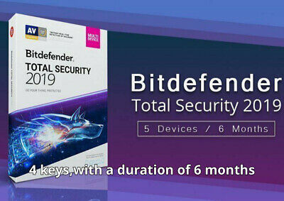 Bitdefender Total Security 2019-2020 Key 5 Devices up to 2 Years