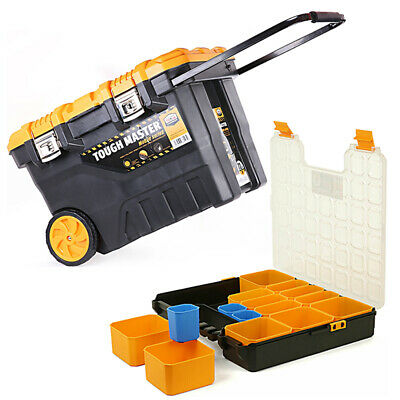 """Tool Chest Tough Master 28""""/ 72 cm With 15 Storage Compartment Tool Organiser"""