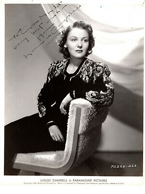 Actress Louise Campbell ,Rare Signed Vintage Studio Photo.