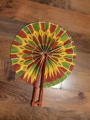 Brand New African Print Fan( Various Designs Inc. Kente/Angelina / Tie&Dye