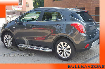 Opel Mokka 2012-2015 Marche-Pieds Inox Plat / Protections Laterales