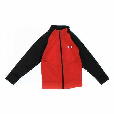 Under Armour Boys Hoodie, size 5/5T,  orange,  polyester