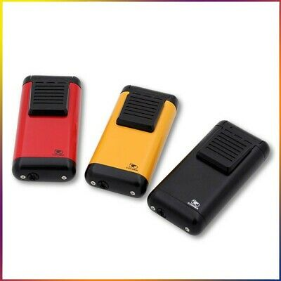 COHIBA Metal Cigar Refillable Windproof Lighters 3 Torch Jet Flame Zinc Alloy