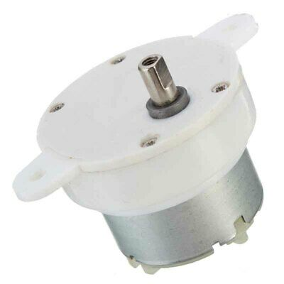 DC 12V HIGH TORQUE Cylindrical Electric Micro Motor Gearbox 3 RPM 500TB US