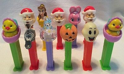 Vtg Collectibles - PEZ DISPENSERS w/ Feet - MIXED...HOLIDAY, CHARACTERS No Candy