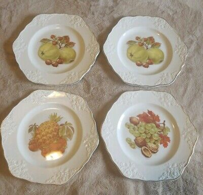 "Marlborough Old English Ironstone Simpsons (Potters) England 8.5"" Desert Plates"