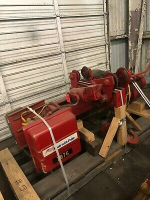 acco wright work-rated 10 ton monorail electric wire rope hoist 20 ft lift