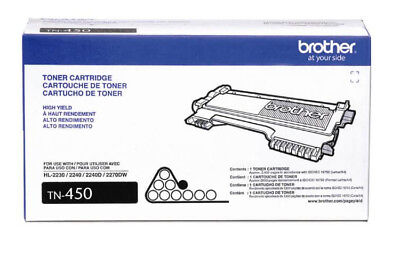Brother Genuine High Yield Toner Cartridge TN450 Black Toner OEM - JS