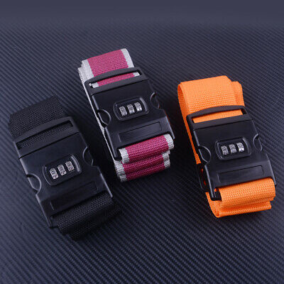 Luggage Strap Adjustable Strong 3 Digit Combination Suitcase Lock Safe Belt New