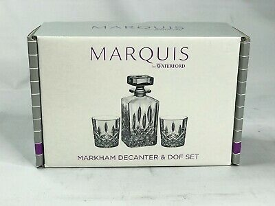 NEW In Box! Marquis By Waterford Markham Decanter & Double Old-Fashioned Set