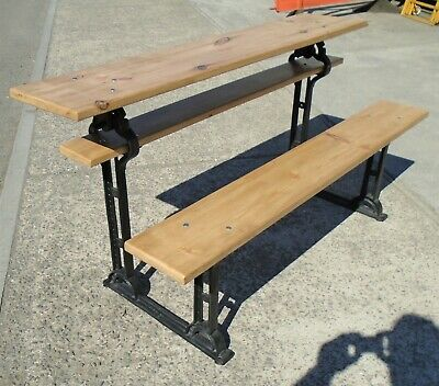 Antique Metamorphic Cast Iron Table / Bench   Refurbished   Delivery Available