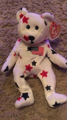 /'Glory/' the Patriotic Bear Ty Beanie Baby RETIRED MINT