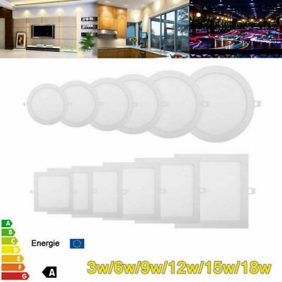 Downlight Dimmable Ceiling LED Recessed Panel Flat Light Lamp Decor Ultra Slim
