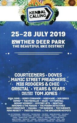 Kendal Calling Weekend Tickets. 2x Adult Tickets, 2x Child, 1x Infant