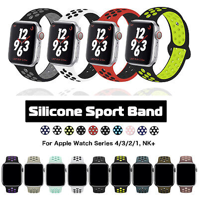 Sport Silicone iWatch Band Strap fr Apple Watch Series 4 3 2 1 NK+ 38/40/42/44mm