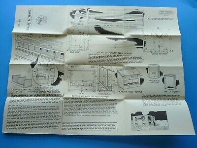 ANTIQUE  CHICKEN HOUSE PLANS PATTERN NO# 451 NEELY HALL 1940's