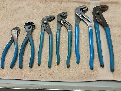 """Lot Of 6 Channellock Plier Mixed Set 12"""" 12-1/2"""" 10-1/4"""" 9-1/2"""" 7-1/4"""" 7-3/8"""""""