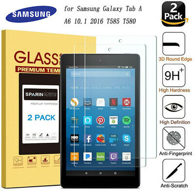 2PC Tempered Glass Screen Protector for Samsung Galaxy Tab A 10.1 2016 T580 T585