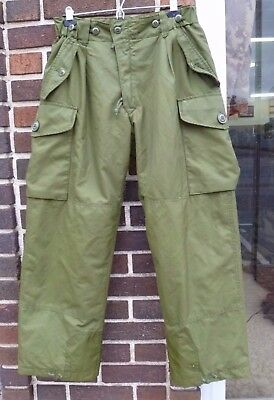Canadian Forces Insulated Gore-Tex IECS Combat Pants Trousers OD Size 7034 M R