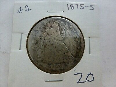 1875-S Seated Liberty Silver Half Dollar-#2