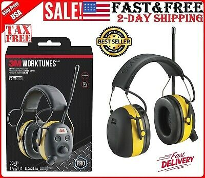 3M Peltor Worktunes Digital AM FM Radio Headphones Ear Muffs Hearing Protection