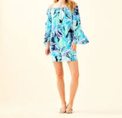 0785cdca1573ee NEW LILLY PULITZER WILDA Bright Navy In The Groove Caftan Dress ...