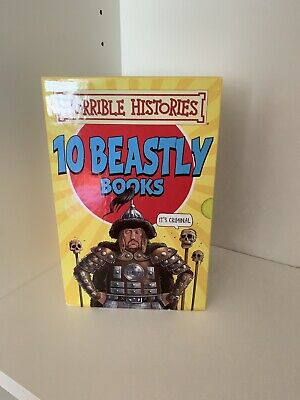 Horrible Histories Beastly Books 10 Box Set by Terry Deary NEW