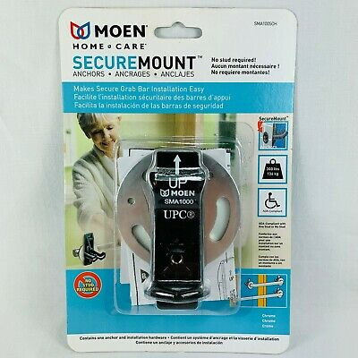 New Moen SMA1005CH Home Care Securemount Anchors, Stainless, Chrome