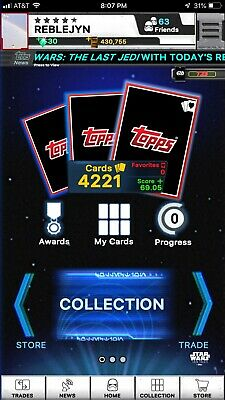 Topps Star Wars Card Trader Full Account