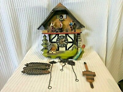 Vintage Schmeckenbecher W. Germany Musical Cuckoo Clock 12-69 Black Forest
