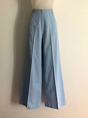 Vintage 1970s 'Sport Look' high waisted, light blue flares