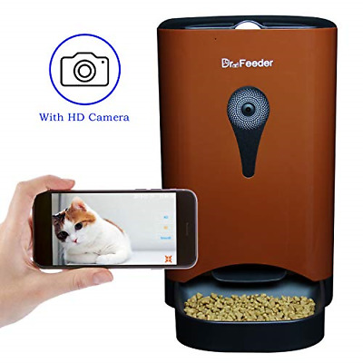 4.5L Smart Feeder, Automatic Pet Feeder for Cats and Dogs, HD Camera for Video