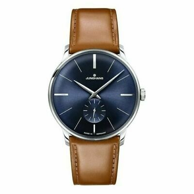 5d603d30b Junghans Meister Hand-Wound Blue Dial Leather Strap Men's Watch 027/3504.00